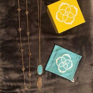 Kendra Scott Nemera and Rayne Pendant Necklaces